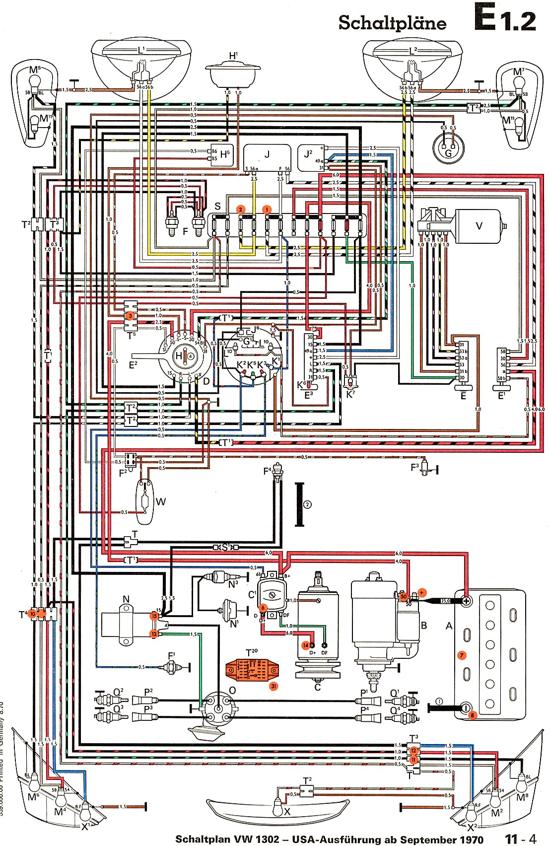beetle wiring diagram uk pto switch thesamba late model super 1968 up view