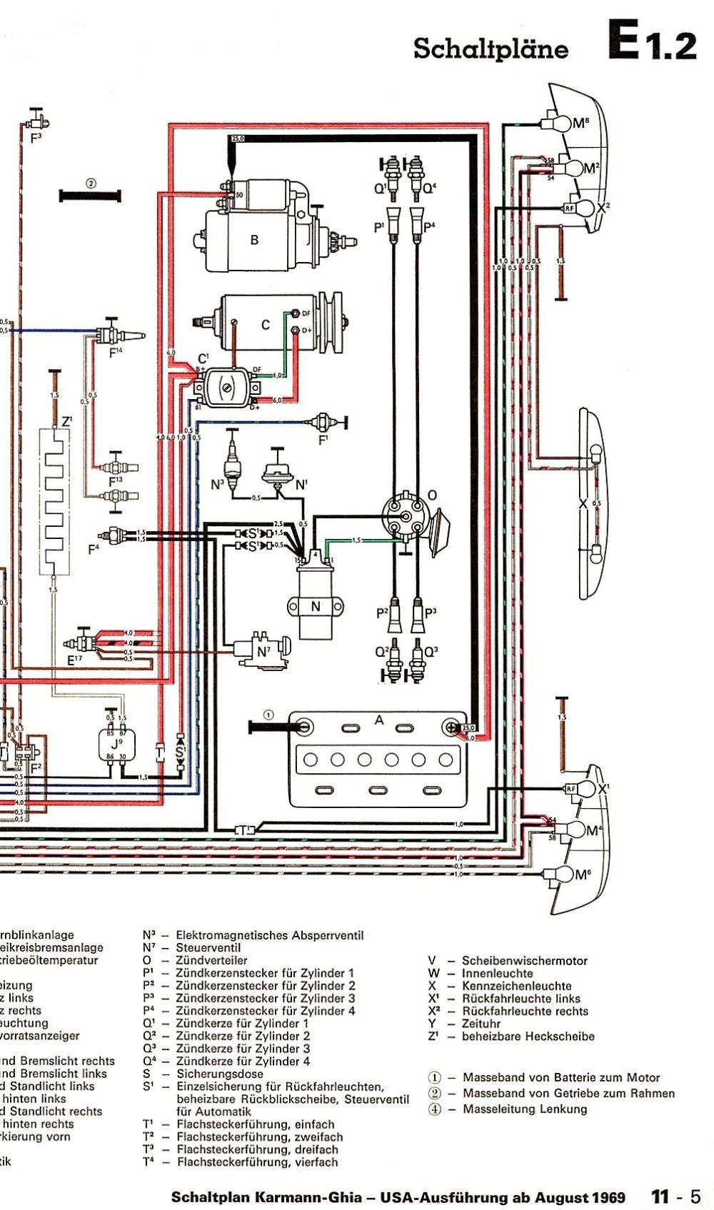 medium resolution of 1974 vw karmann ghia wiring diagram