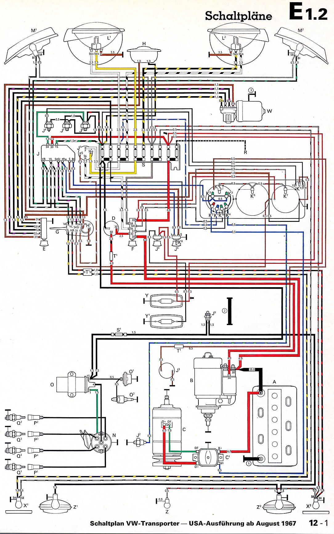 For6 Pin Trailer Connector Wiring Diagram Thesamba Com Bay Window Bus View Topic Installing