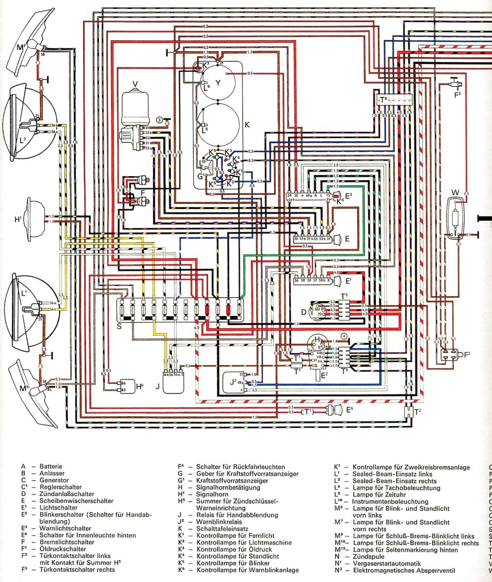 medium resolution of vintagebus com vw bus and other wiring diagrams 1971 usa from august 1970