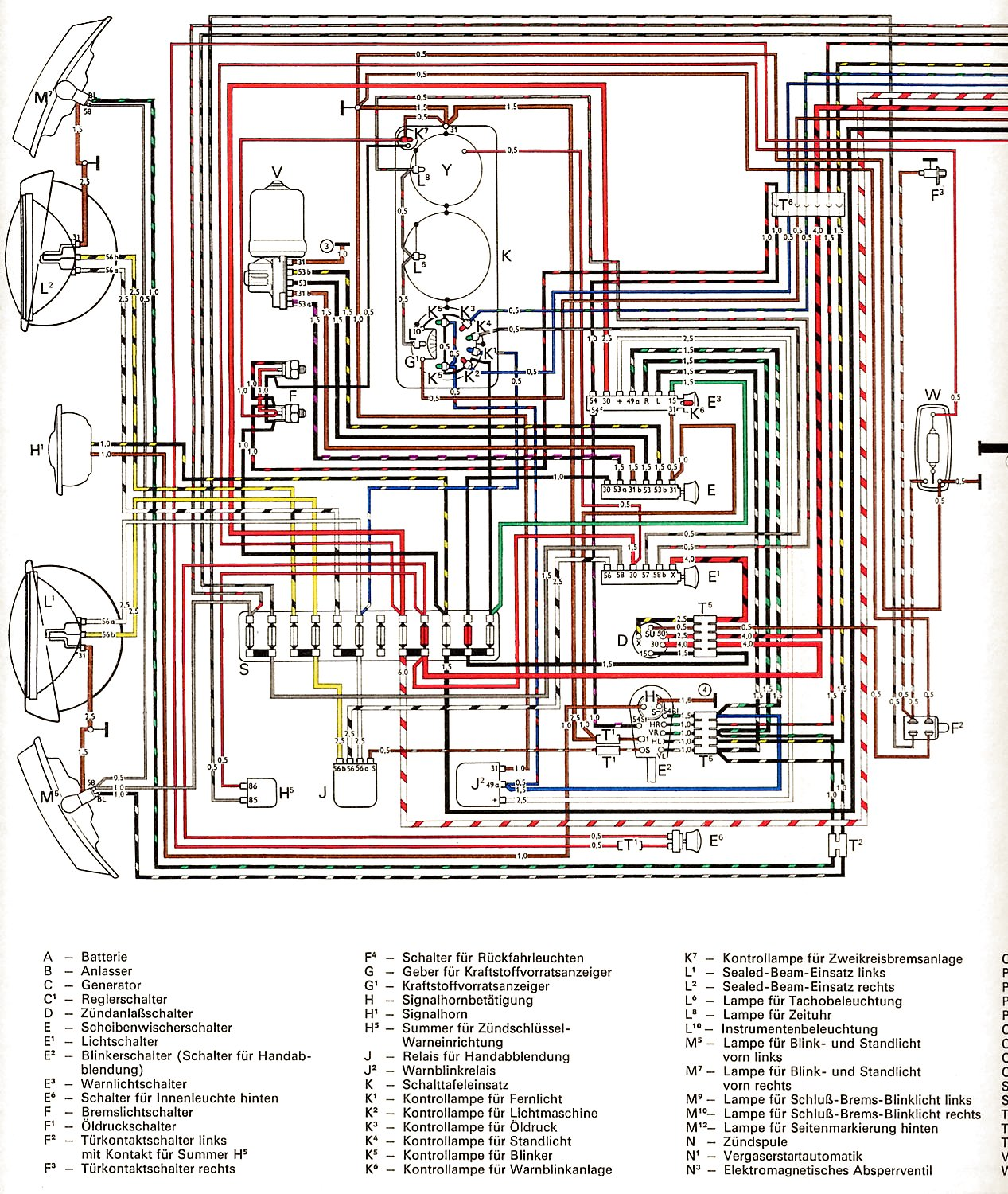hight resolution of vintagebus com vw bus and other wiring diagrams 64 volkswagen bug wiring diagram vw wiring diagram