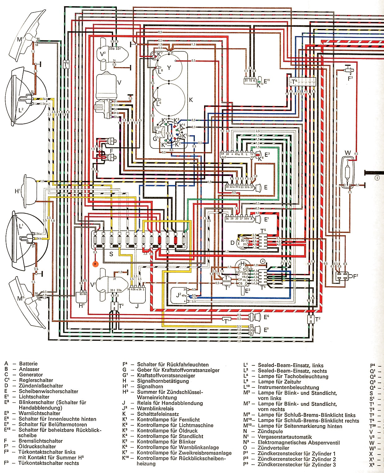 1972 vw bus wiring diagram am receiver block of radio 1968 get free image about