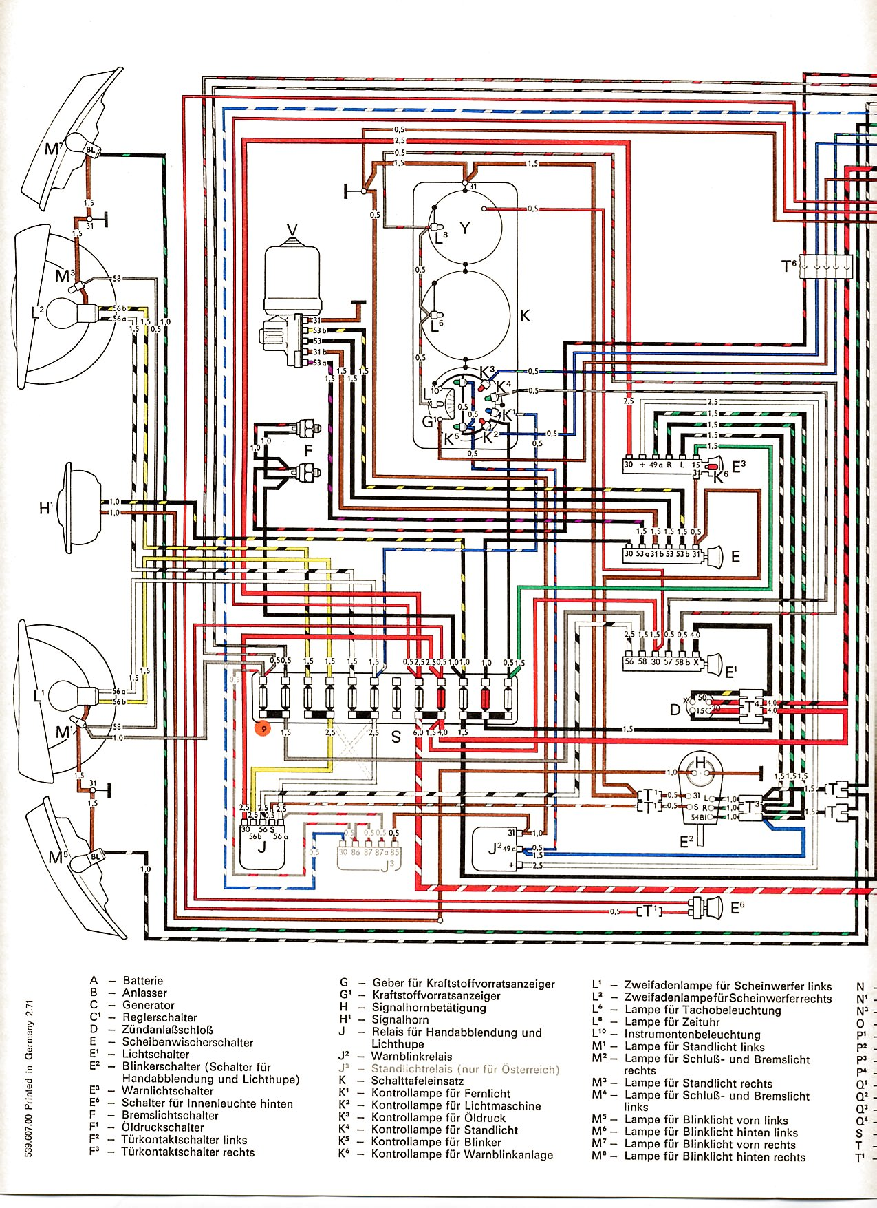 Vw Transporter Fuse Box Layout 2013 : Volkswagen transporter t fuse box diagram