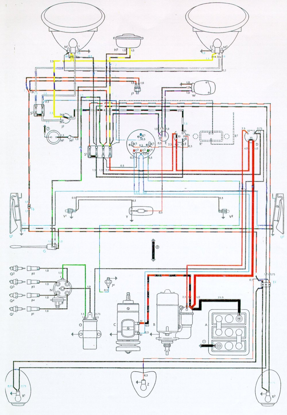 medium resolution of vintagebus com vw bus and other wiring diagrams wiring diagram for air cooled vw