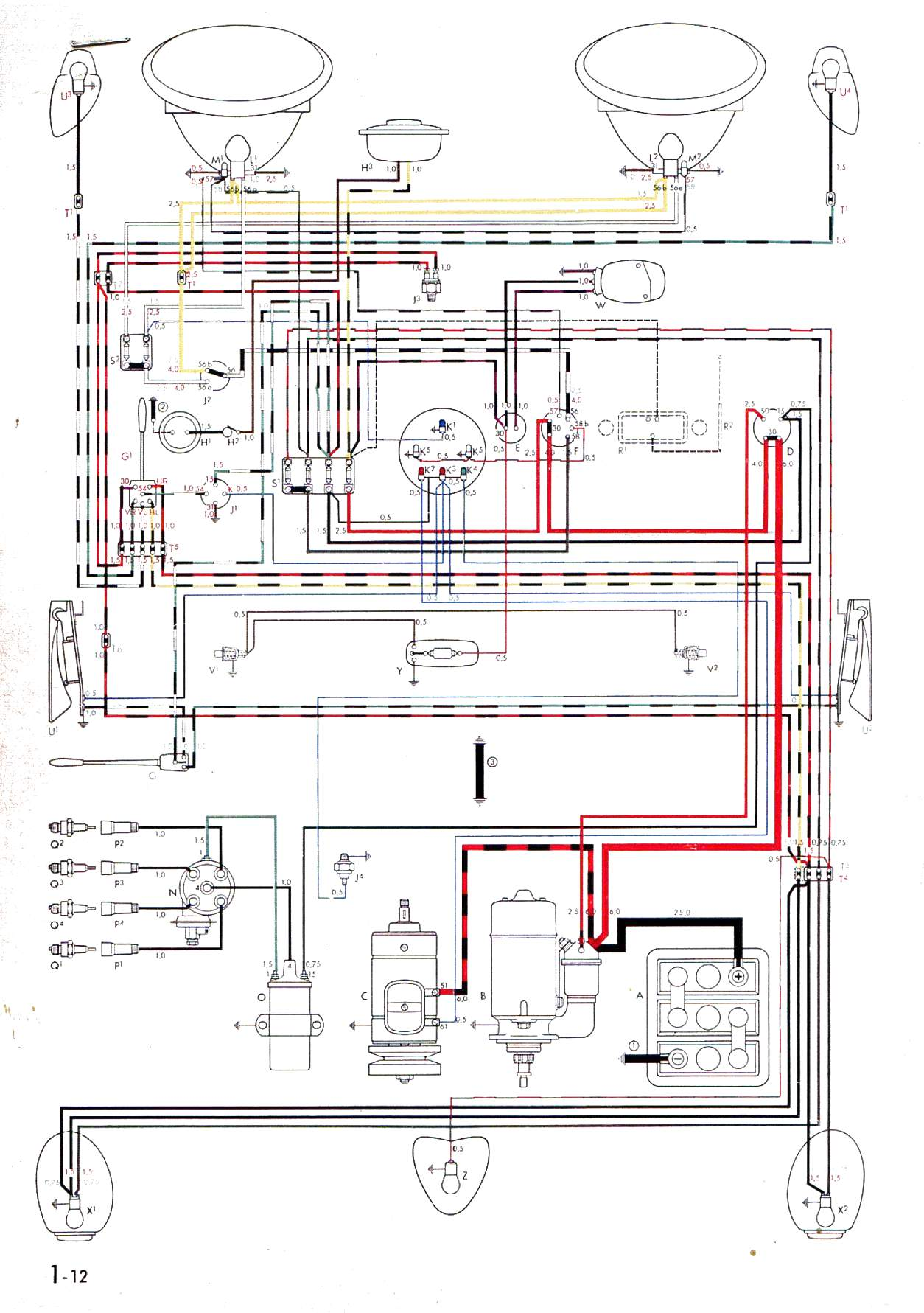 hight resolution of vintagebus com vw bus and other wiring diagrams 64 mg wiring diagram