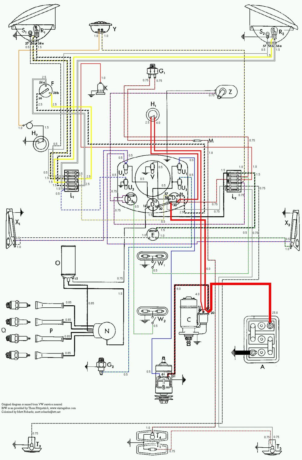medium resolution of vintagebus com vw bus and other wiring diagrams vw beetle turn signal switch wiring likewise awg wire size chart