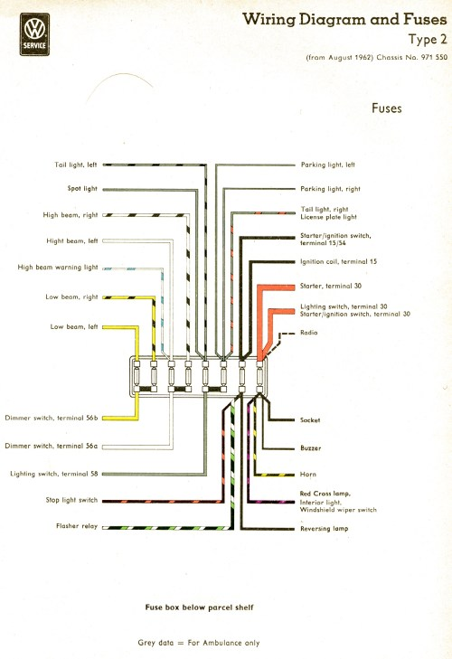 small resolution of vintagebus com vw bus and other wiring diagrams diagram key fuses 1954 diagram key fuses 1954 1955 1956