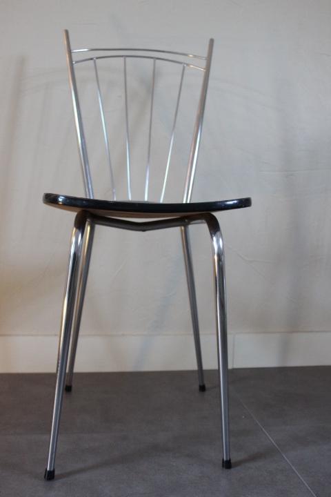 chaise formica pied fuseau avec haut dossier barrettes. Black Bedroom Furniture Sets. Home Design Ideas