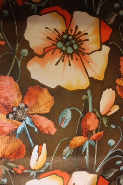 Papier peint rétro vintage seventies