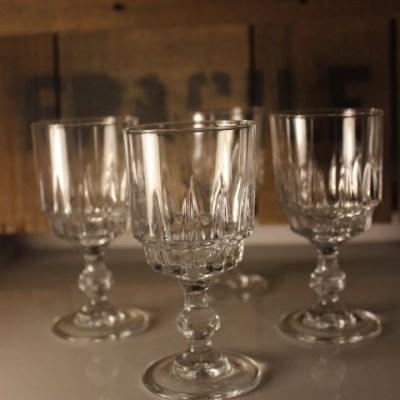 ancien verres à pied Luminarc