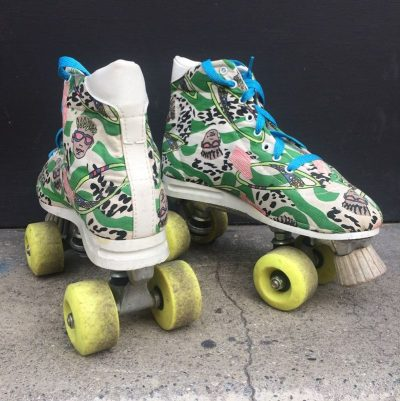 Roller patins à roulette vintage