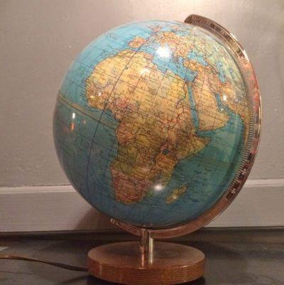 Ancien globe terrestre lumineux Duplex