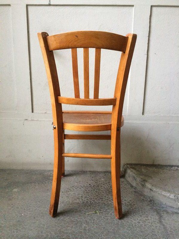 Ancienne chaise bistrot en bois couleur miel - Chaise bistrot ancienne baumann ...