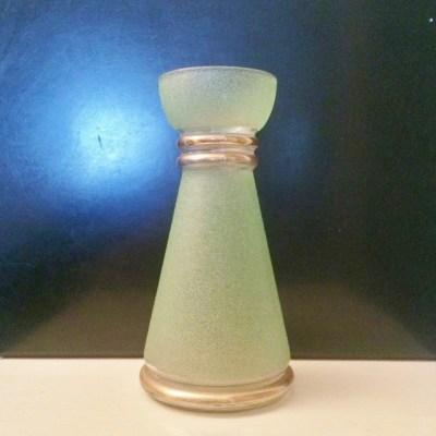 Ancien Vase verre givré Années 50