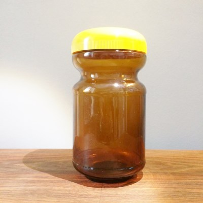 Bocal vintage verre ambré
