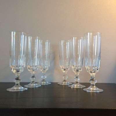Ancienne Flûte à champagne cristal vintage