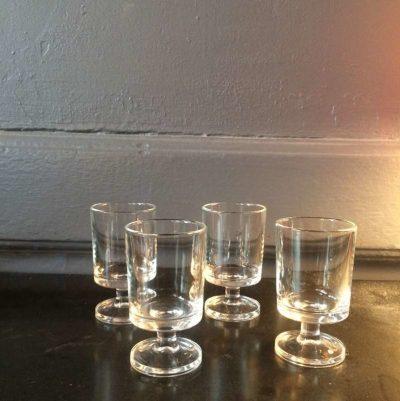 Ancien verres à digestif luminarc vintage