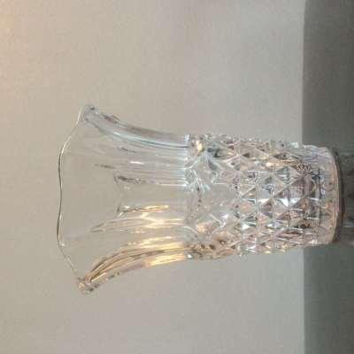 vase verre transparent vintage