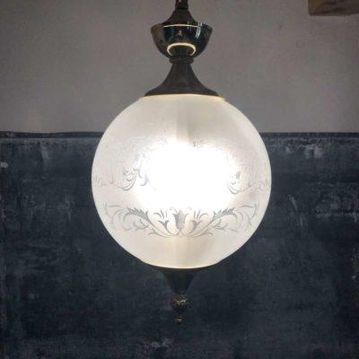 Suspension globe Art Déco vintage