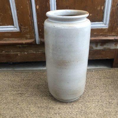 Vase grès cylindre vintage