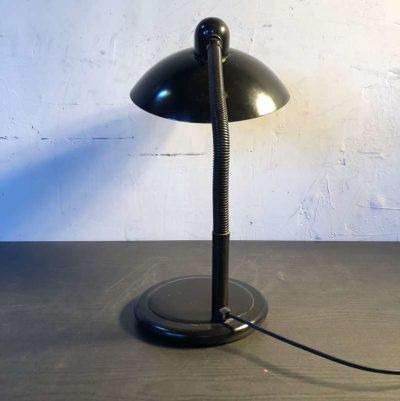 Lampe à poser aluminor noir vintage