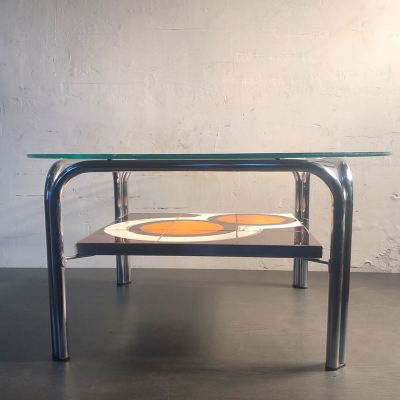 Table basse ronde vintage