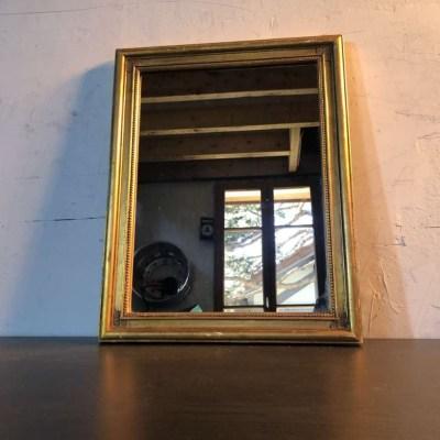Ancien miroir rectangulaire cadre doré