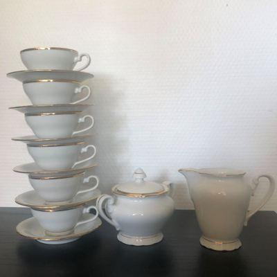 Service à café porcelaine blanche 1960
