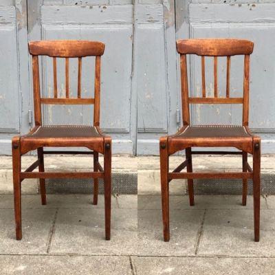 chaise vintage assise skai
