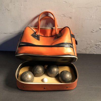 sacoche boules de pétanque vintage