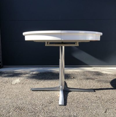 Table ronde formica rallonge central