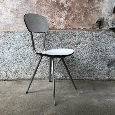 Chaise formica beige vintage