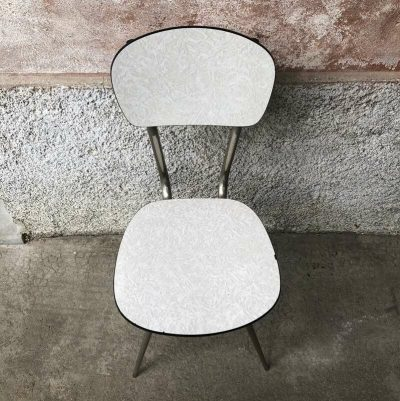 Chaise vintage formica blanc