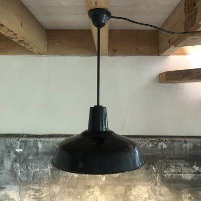 Lampe industrielle émaillée vintage
