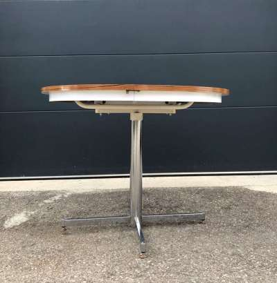 table ronde formica pied central
