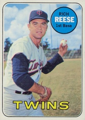 Image result for RICH REESE 1969 BASEBALL CARD IMAGE