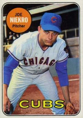 Image result for JOE NIEKRO 1969 BASEBALL CARD IMAGE