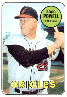 Image result for boog powell 1969 baseball card images