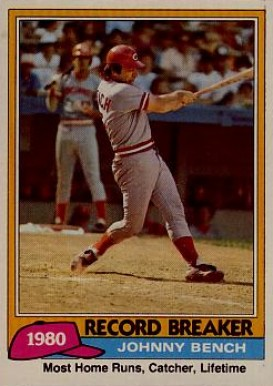 1981 Topps Johnny Bench 201 Baseball Card Value Price Guide