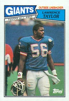 1987 Topps Lawrence Taylor 26 Football Card Value Price Guide