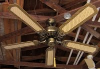 "J.C. Penney Moss Heirloom Deluxe Ceiling Fan Model 52""B"