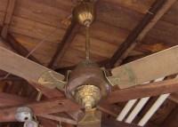 Vintage 1970s Ornate Ceiling Fan