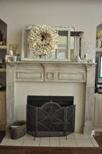 Chalk Paint Fireplace Mantel - Vintage Charm Restored
