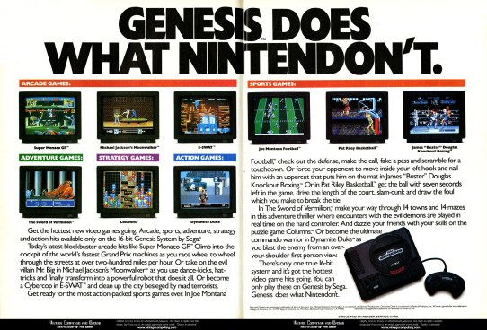 Image result for Sega genesis ad