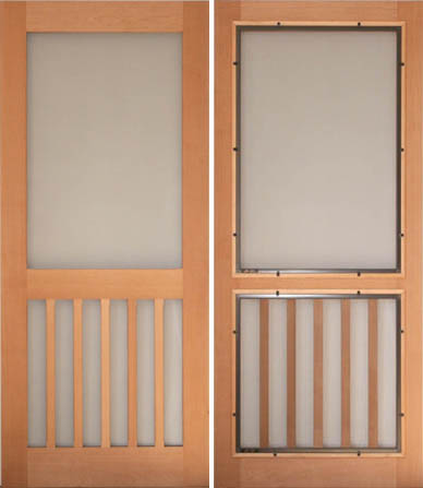Cedar Screen Door Plans