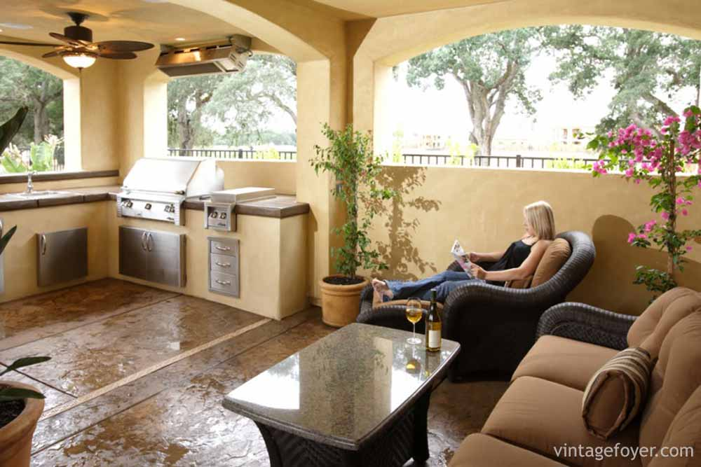 patio kitchen redoing outdoor kitchens galore photo gallery there is a nice bar area with stools which provides extra functionality for this to entertain small groups