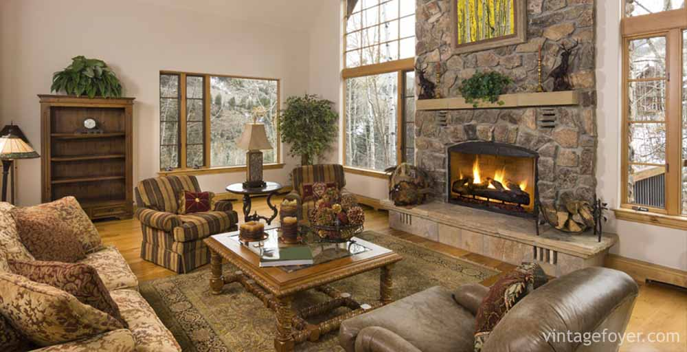 pictures of living rooms with stone fireplaces decorating room modern style 44 cozy cabins beautiful cost is another item to think through when in the planning stages most all simply enjoy beauty that stones bring into