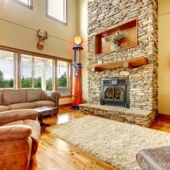 Pictures Of Living Rooms With Stone Fireplaces Modern Room Chandeliers 44 Cozy Cabins Beautiful A Throwback Cabin Brings An Element The Old Days To Forefront Wood Floors Comfortable Rug Suede Couches