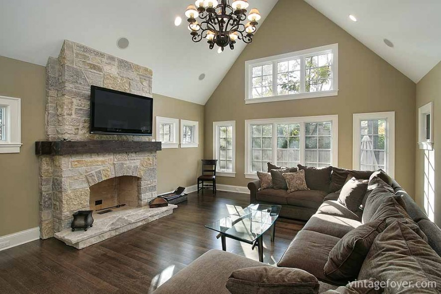 images of living rooms with gray couches round rugs for room 44 cozy & cabins beautiful stone fireplaces