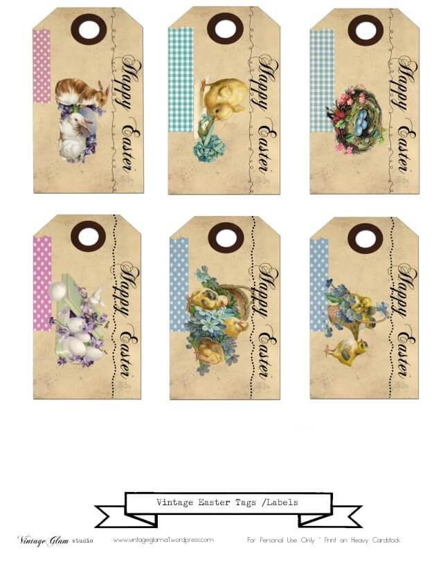 vintage easter tags